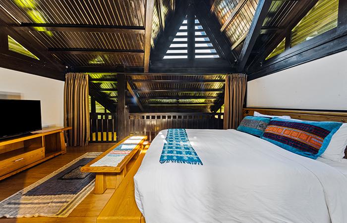 Phòng ngủ tầng gác mái - Duplex Villa Valley View Nguồn: Khu nghỉ dưỡng Sapa Jade Hill Resort & Spa